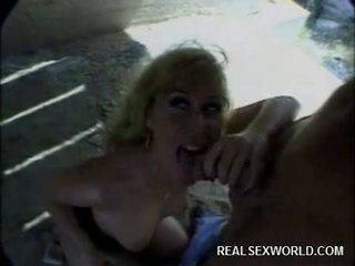 Hot Blonde fucked outdoor