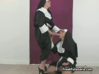 Sexy Nun Loves Jerking Her Girlfriend Part3