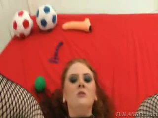 This Cute Red Head Loves The Fat Cock Inside Her Horny Gape Hole!
