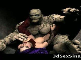 Scary ogres bang ทรีดี สาว!