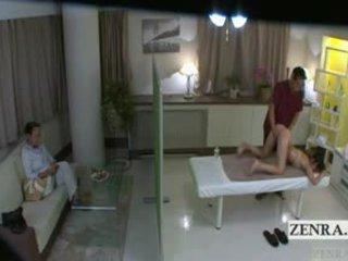 japonais, vieux + jeune, massage
