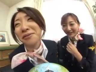 Japanese Students play with dildo Video