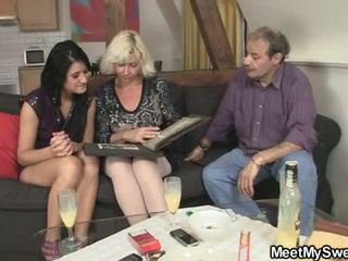 GF gets lured into threesome by his parents