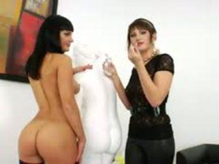 brunette, toys, anal, lesbian
