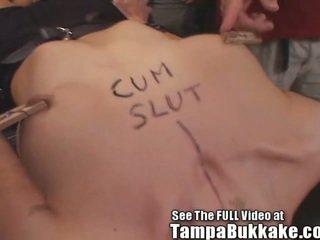 Gagging Pain Slut Bukkake!