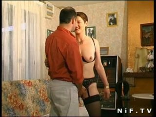 Hairy french milf gets her ass fucked