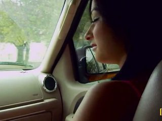 Mandy fills her passenger side pussy