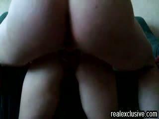 Shooting my cum deep in ass my wife Maria Video