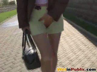 Desperate Cutie Can Not Control Her Urge To Pee