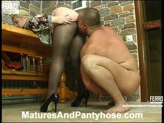 Sibylla And Nicholas Mature Nylon Action