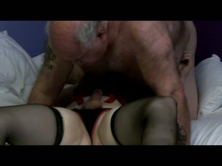 Busty blonde tranny mutual sex with guy