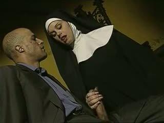 sexy, smerig, italiaans, nuns