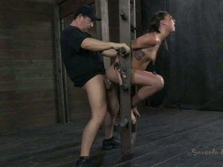 Wild slaves get tortured at the dungeon