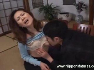 japonais, vieux, oral, mamie