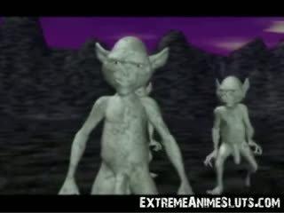 3d aliens auf ein prinzessin!