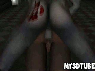 Hot 3D Cartoon Babe Gets Fucked Hard By A Zombie