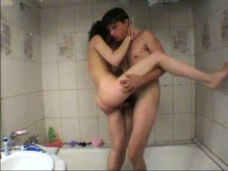 Masha got fucked in the tub