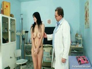 Large Knocker Adriana Milk Shakes And Mound Gyno Exam At Kinky Clinic