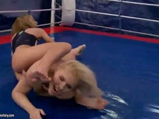 lesbian, lesbian fight, muffdiving, amazon fighters