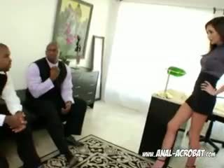 Two 大きい ブラック penises クソ 深い アナル