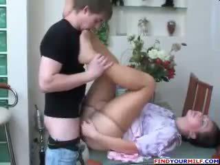 Rosyjskie mama i syn rajstopy fetysz seks