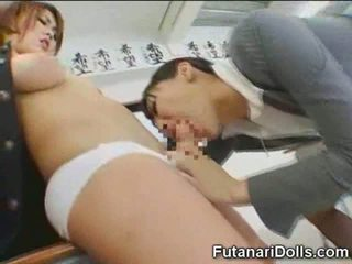 Futanari Schoolgirl Gets Sucked!
