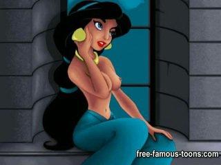 Aladdin and Jasmine porn parody