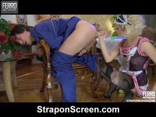 Μείγμα του βίντεο με strapon οθόνη