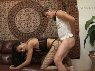 Pornstar Venus Lux gets nailed by fat raw cock