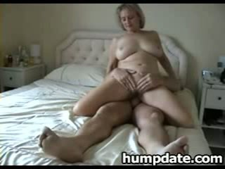 Busty mature wife with nice big ass rides cock
