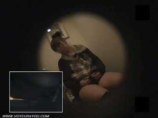 Japonská kancelář dámy záchod masturbate