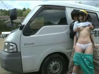 日本の, オーガズム, 盗撮, エキゾチック