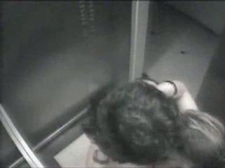 Spying my neighbour girl in elevator