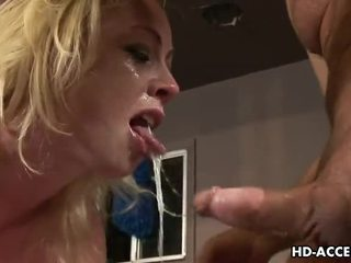 fun blowjob check, deep throat see, blonde all