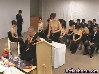 japansk, gruppsex, stora bröst, blandras