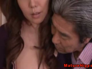 Japanese Mature MILF Using Sexy Lingerie