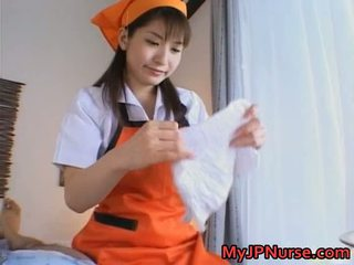 Ann Nanba Sweet Asian Nurse Gives