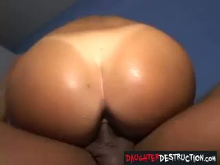 Young Teen Daughter Painfully Anal Destroyed