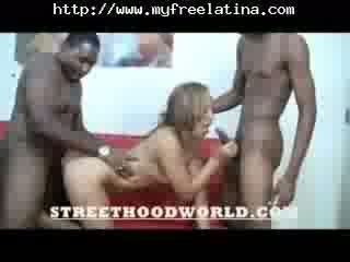 Latina Gets Double Teamed latina jizz shots latina swallow braziliera mexicana spanish