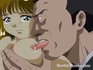 Brown Haired Manga Cutie Getting Large Jugs Licked And Pussy SmAshed In The Park