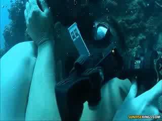 Sabine mallory pod voda súložiť a semen shot