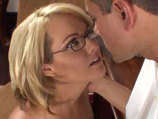 glasses, office, sexy uniform
