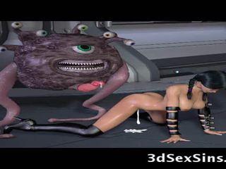 Ogres e aliens cazzo 3d elf ragazze!