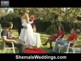Shemale weddings proudly presenteert senna, camile, patricia_bismarck in porno scène