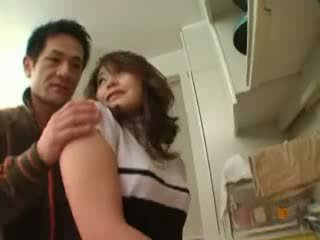 Japanese Milf Groped In Kitchen Video
