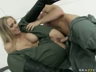 Large Boobed JuLia Ann Is Eagerly Slamming Her Clamburger Hard On A Stiff Penis