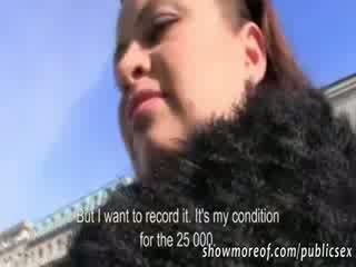 Jumbo Juggs amateur slut reamed and spunked on for money