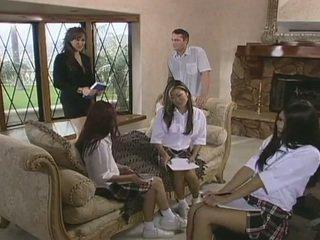 Seksual home call tutor fucks by sürpriz visitor