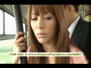 Rio asiática adolescente nena getting su peluda coño fondled en la