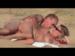 Mature lover on the beach